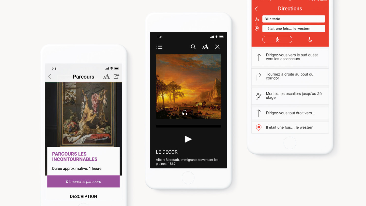 React Native mobile application for the Montreal Museum of Fine Arts on cellphone screens